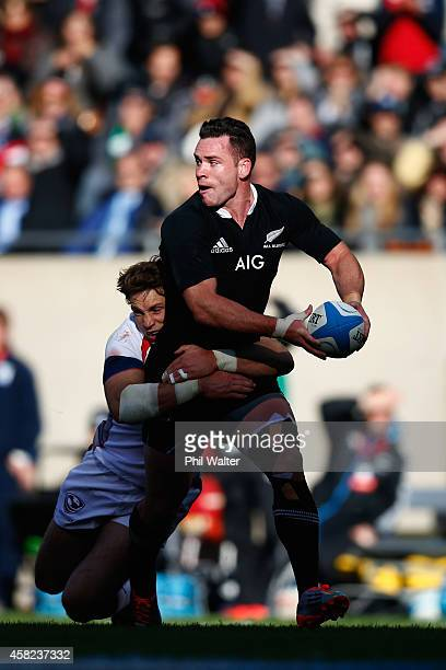 Ryan Crotty of the All Blacks is tackled during the International Test Match between the United States of America and the New Zealand All Blacks at...