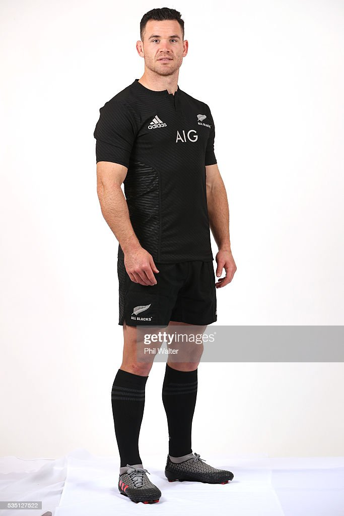 Ryan Crotty of the All Blacks poses for a portrait during a New Zealand All Black portrait session on May 29, 2016 in Auckland, New Zealand.