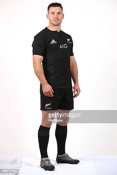 Ryan Crotty of the All Blacks poses for a portrait during a New Zealand All Black portrait session on May 29 2016 in Auckland New Zealand