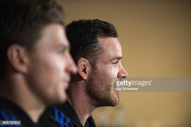Ryan Crotty of the All Blacks speaks to the media during a New Zealand All Blacks press conference on September 15 2016 in Christchurch New Zealand