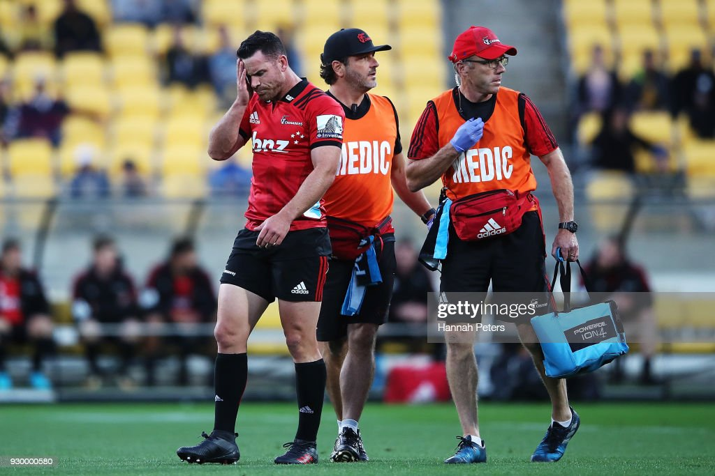 Super Rugby Rd 4 - Hurricanes v Crusaders : News Photo