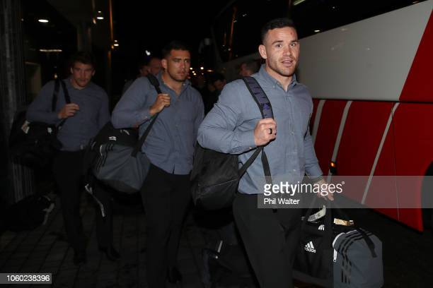Ryan Crotty of the New Zealand All Blacks arrives at the Crowne Plaza Blanchardstown on November 11 2018 in Dublin Ireland