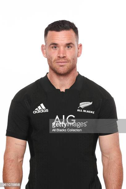 Ryan Crotty poses during a New Zealand All Blacks headshots session on May 21 2018 in Auckland New Zealand
