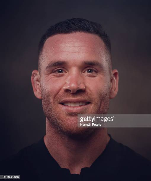Ryan Crotty poses during a New Zealand All Blacks portraits session on May 21 2018 in Auckland New Zealand