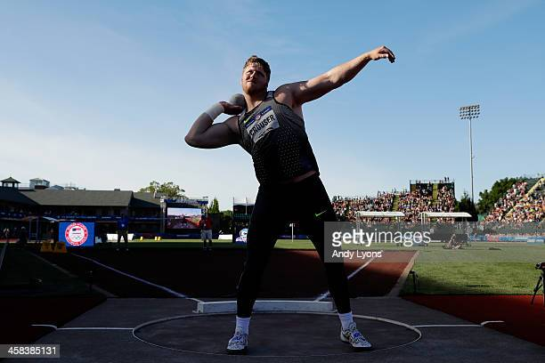 Ryan Crouser participates in Men's Shot Put Final during the 2016 US Olympic Track Field Team Trials at Hayward Field on July 1 2016 in Eugene Oregon