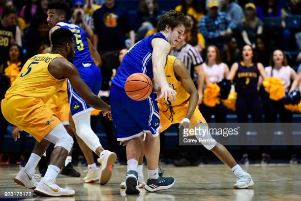Ryan Daly of the Delaware Fightin Blue Hens loses the ball against the Drexel Dragons during the second half at the Daskalakis Athletic Center on...