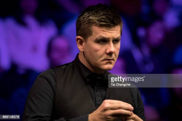 Ryan Day of Wales reacts in the semifinal match against Shaun Murphy of England during 2017 Betway UK Championship at Barbican Centre on December 9...