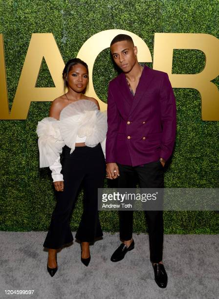 Ryan Destiny and Keith Powers attend the 3rd Annual MACRO PreOscar Party on February 06 2020 in West Hollywood California