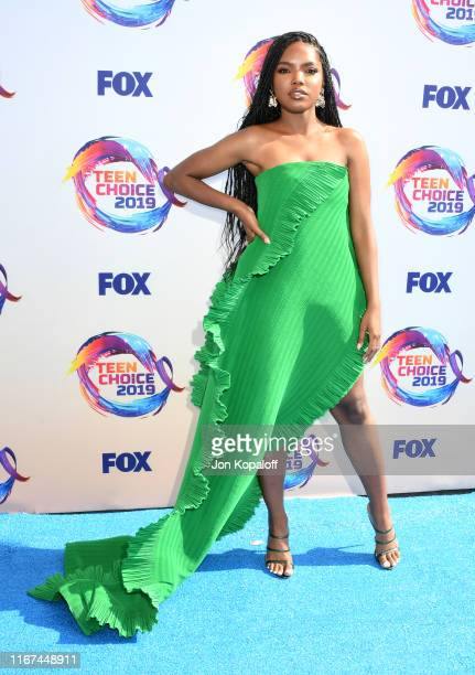 Ryan Destiny attends FOX's Teen Choice Awards 2019 on August 11 2019 in Hermosa Beach California
