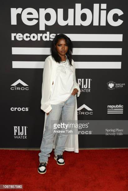 Ryan Destiny attends Republic Records Grammy after party at Spring Place Beverly Hills on February 10 2019 in Beverly Hills California