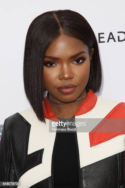 Ryan Destiny attends the 2017 Outfest Fusion LGBT People of Color Film Festival Star at the Egyptian Theatre on March 4 2017 in Hollywood California