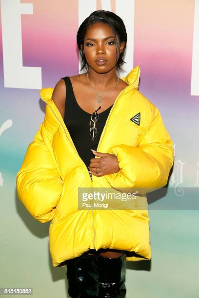 Ryan Destiny attends the Fenty Puma by Rihanna show during New York Fashion Week at the 69th Regiment Armory on September 10 2017 in New York City