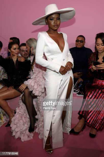 Ryan Destiny attends the Ralph Russo Womenswear Spring/Summer 2020 show as part of Paris Fashion Week at Le Centorial on September 29 2019 in Paris...