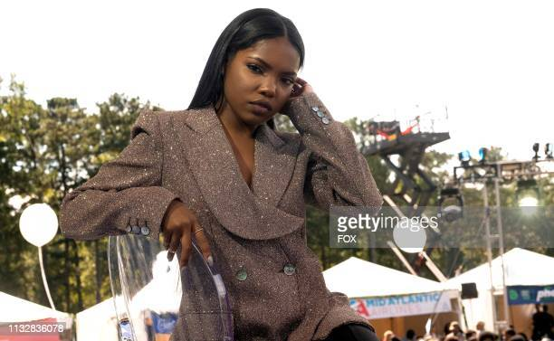 Ryan Destiny behind the scenes in the Zion fall finale episode of STAR airing Wednesday Dec 5 on FOX