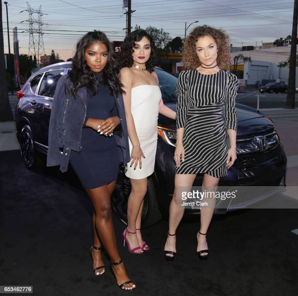 Ryan Destiny Brittany O'Grady and Jude Demorest attend the Honda Stage Celebrates The Music Of FOX's Star event at iHeartRadio Theater on March 14...