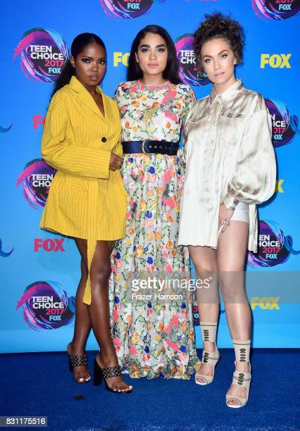 Ryan Destiny Brittany O'Grady and Jude Demorest pose in the press room during the Teen Choice Awards 2017 at Galen Center on August 13 2017 in Los...