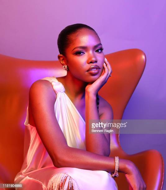 Ryan Destiny poses for a portrait during the BET Awards 2019 at Microsoft Theater on June 23 2019 in Los Angeles California