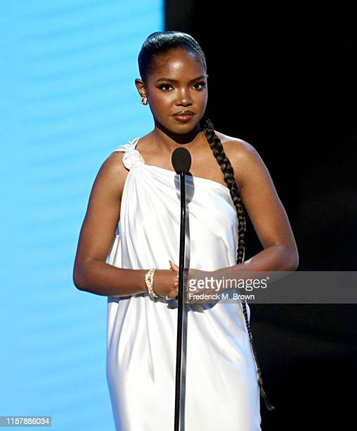 Ryan Destiny speaks onstage at the 2019 BET Awards at Microsoft Theater on June 23 2019 in Los Angeles California