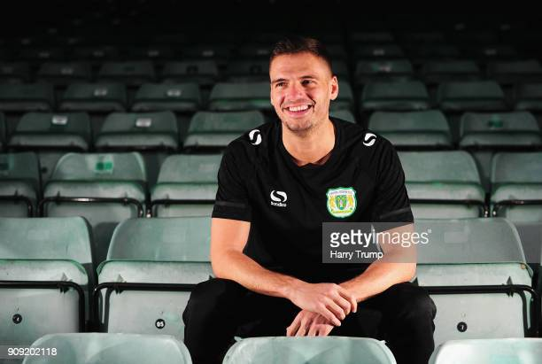 Ryan Dickson of Yeovil Town poses for a photograph during the Yeovil Town media access day at Huish Park on January 23 2018 in Yeovil England