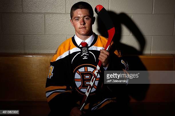 Ryan Donato of the Boston Bruins poses for a portrait during the 2014 NHL Draft at the Wells Fargo Center on June 28 2014 in Philadelphia Pennsylvania