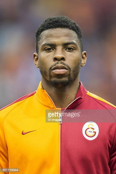 Ryan Donk of Galatasaray during the Super Lig match between Galatasaray and Fenerbahce on April 13 2016 at the Turk Telekom Arena in Istanbul Turkey