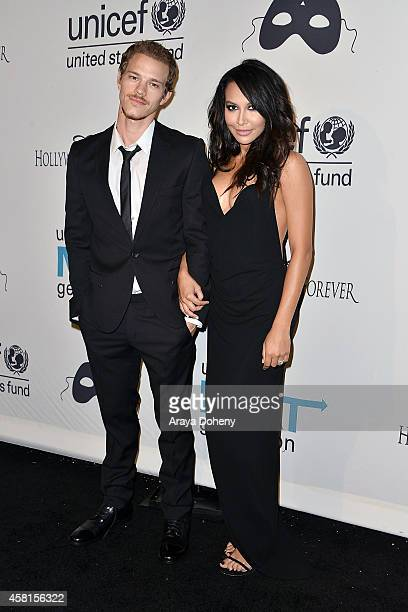 Ryan Dorsey and Naya Rivera attend the UNICEF's Next Generation 2nd annual UNICEF Masquerade Ball on October 30 2014 in Los Angeles California