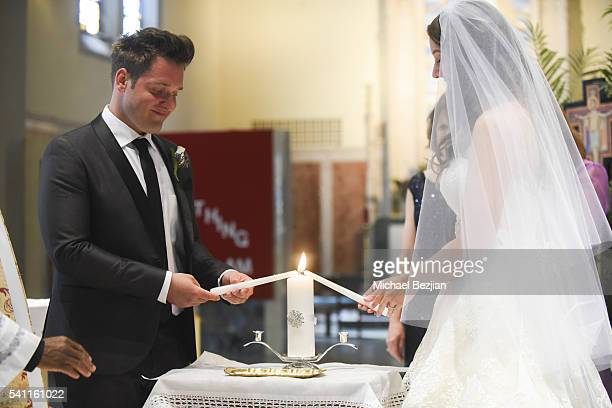 Ryan Doyle and Jen Curci at the wedding of Jen Curci and Ryan Doyle on June 18 2016 in New York City