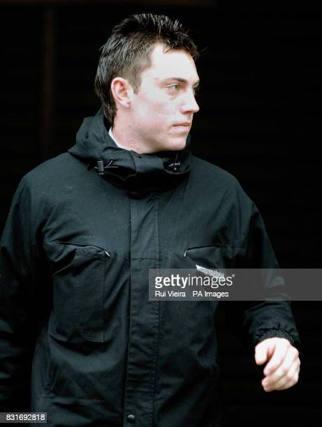 PC Ryan Duffy outside Gainsborough Magistrates Court Thursday March 30 2006 He is one of six policeman who allegedly taunted a woman on a train See...