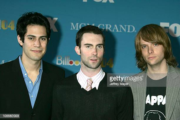 Ryan Dusick Adam Levine and James Valentine of Maroon 5