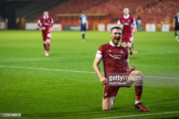 Ryan Edmondson of Aberdeen makes it 40 during the Ladbrokes Premiership match between Aberdeen and Hamilton at Pittodrie Stadium on October 20 2020...