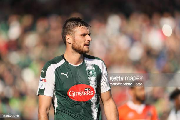 Ryan Edwards of Plymouth Argyle during the Sky Bet League One match between Plymouth Argyle and Shrewsbury Town at Home Park on October 14 2017 in...