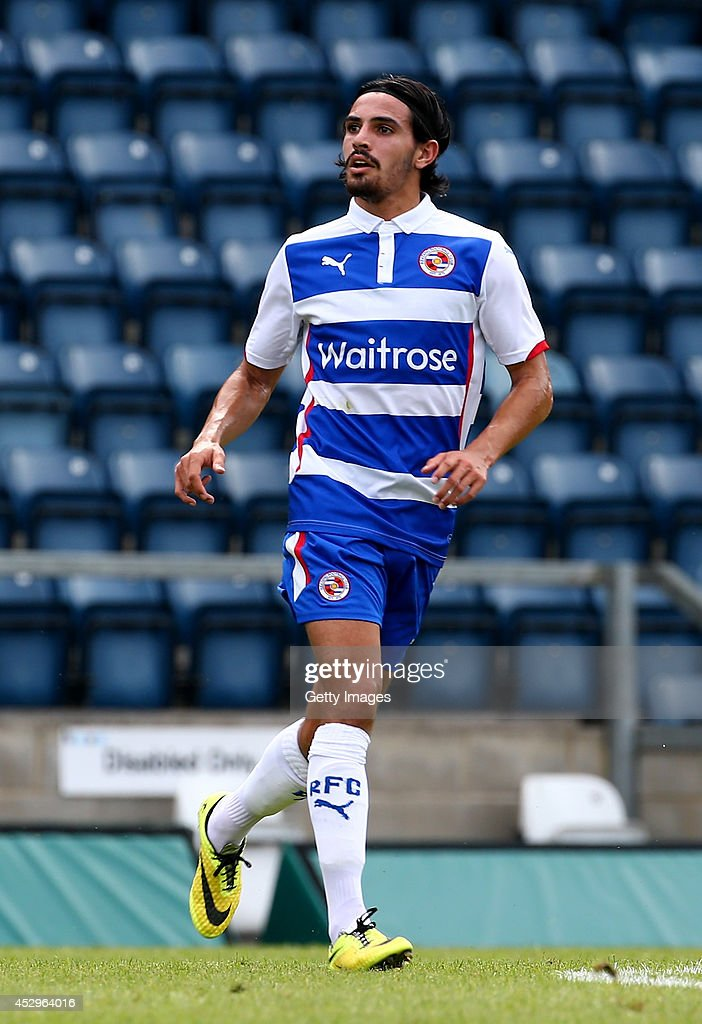 Ryan Edwards of Reading at Adams Park on July 26, 2014 in High Wycombe, England.