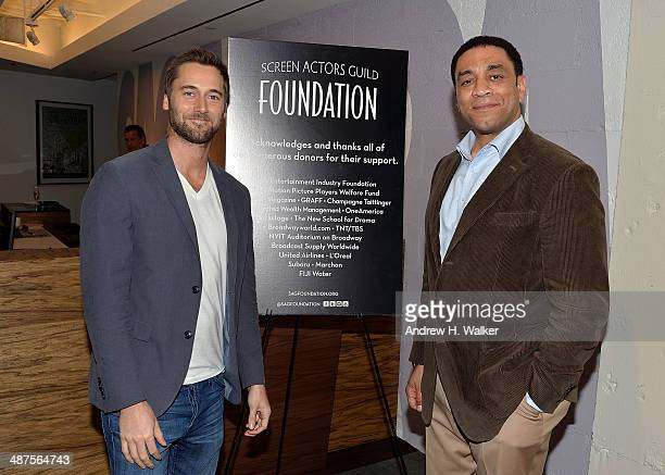 Ryan Eggold and Harry Lennix attend the opening of SAG Foundation Actors Center In New York on April 30 2014 in New York City