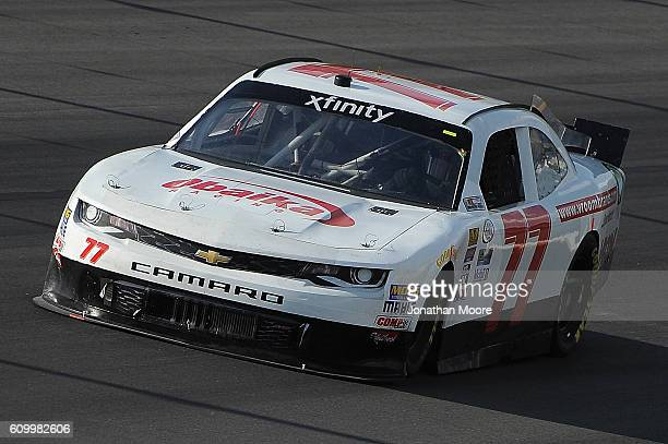 Ryan Ellis driver of the VroomBrands Chevrolet on track during practice for the NASCAR XFINITY Series VysitMyrtleBeachcom 300 at Kentucky Speedway on...