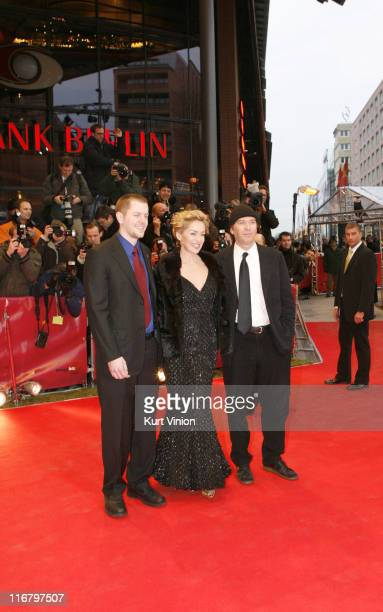 Ryan Eslinger Sharon Stone and Timothy Hutton during 57th Berlin International Film Festival When a Man Falls in the Forest Premiere in Berlin Germany