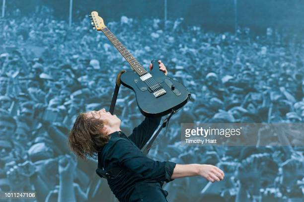 Ryan Evan McCann of Catfish and the Bottlemen performs at Lollapalooza at Grant Park on August 4 2018 in Chicago Illinois