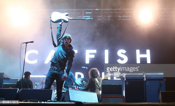 Ryan Evan 'Van' McCann of Catfish and the Bottlemen performs during Splendour in the Grass 2017 on July 22 2017 in Byron Bay Australia