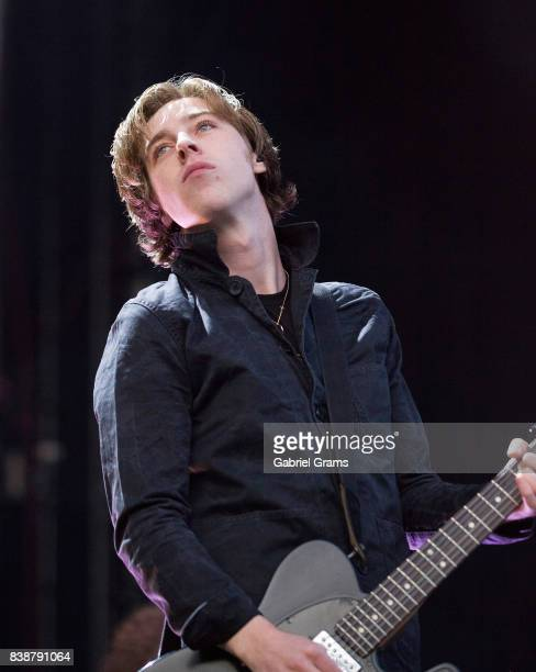 Ryan Evan 'Van' McCann of Catfish and the Bottlemen performs during the 2017 'Radio Revolution' Tour at Wrigley Field on August 24 2017 in Chicago...