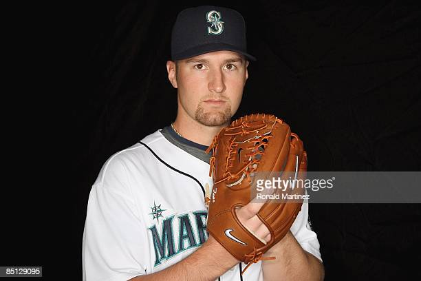 Ryan Feierabend of the Seattle Mariners poses during photo day at the Mariners spring training complex on February 20 2009 in Peoria Arizona