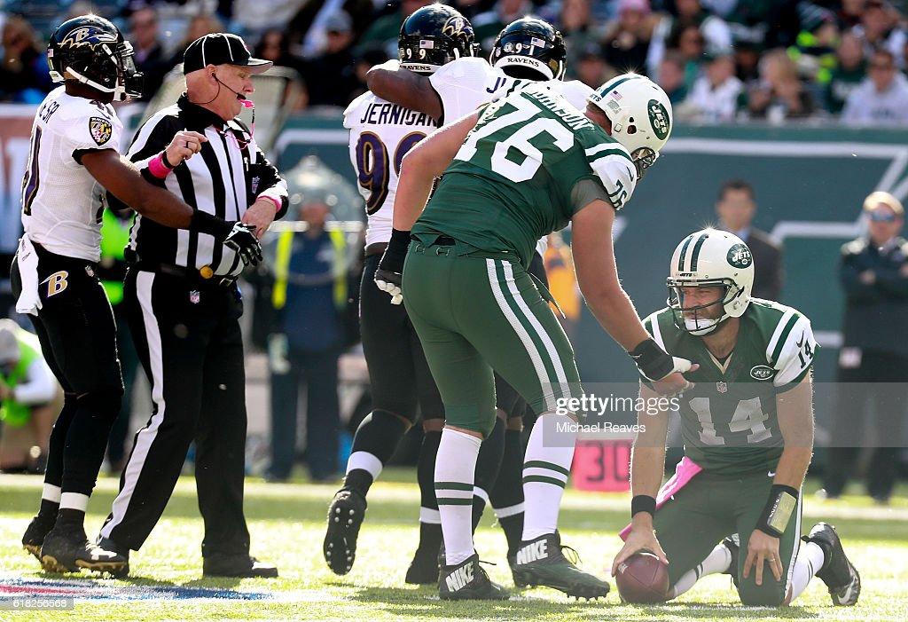 Baltimore Ravens v New York Jets : News Photo