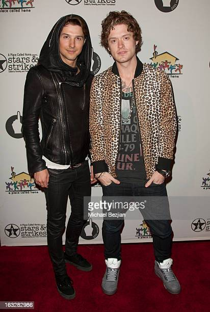 Ryan Follese and Nash Overstreet of Hot Chelle Rae attend 7th Annual 'Stars Strikes' Celebrity Bowling And Poker Tournament Benefiting A Place Called...