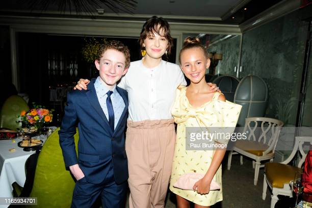 Ryan Foust Ashleigh Cummings and Carly Connors attend Bergdorf Goodman And Warner Bros Host A Reception For The Goldfinch at BG Restaurant on...