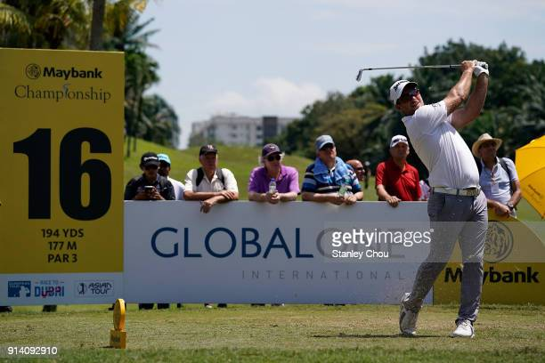 Ryan Fox of New Zealand in action during day four of the Maybank Championship Malaysia at Saujana Golf and Country Club on February 4 2018 in Kuala...