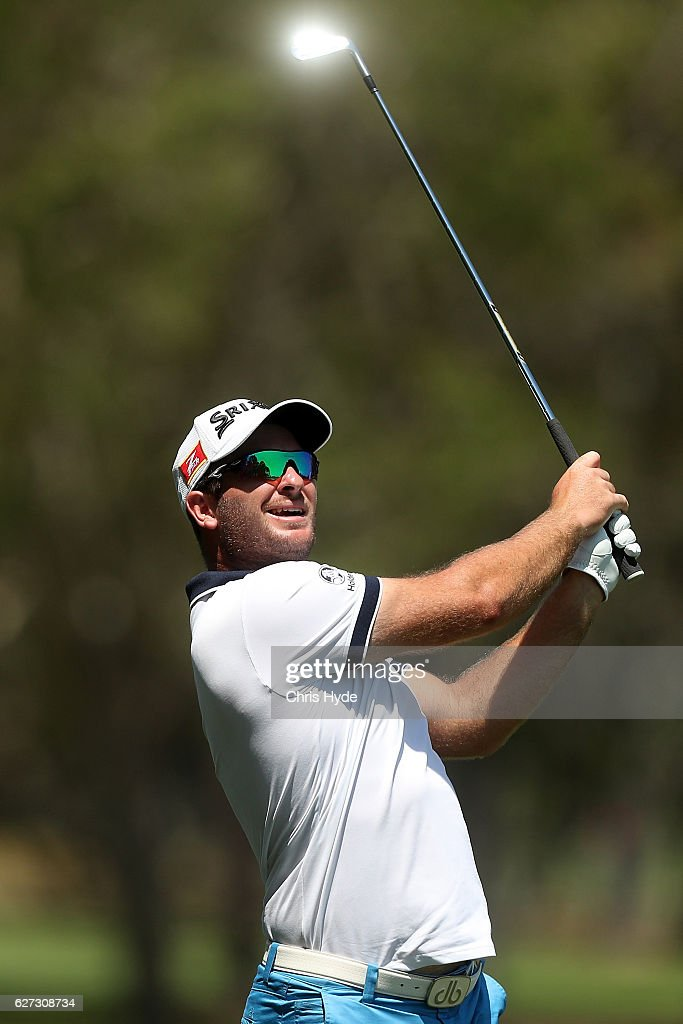 Ryan Fox of New Zealand plays his second shot during day three of the Australian PGA Championships at RACV Royal Pines Resort on December 3, 2016 in Gold Coast, Australia.