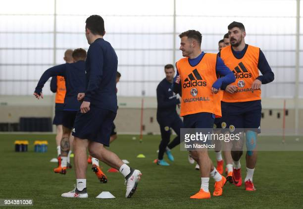 Ryan Fraser is seen during a training session prior to the International Friendly match between Scotland and Costa Rica at Orium Sports Centre on...