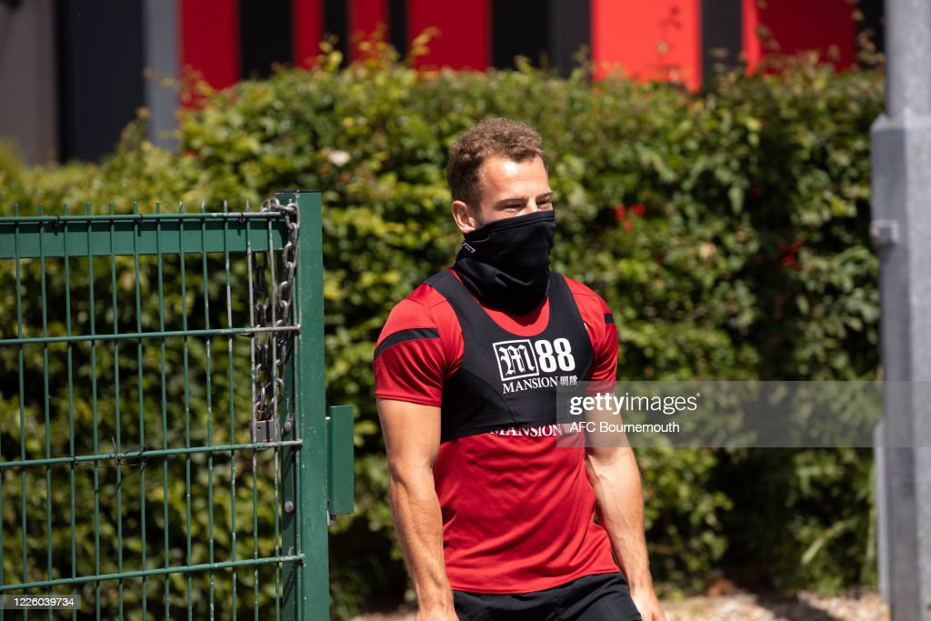AFC Bournemouth Training Session Following Covid-19 Restrictions Being Relaxed : News Photo