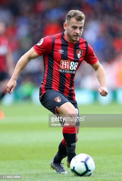 Ryan Fraser of AFC Bournemouth in action during the Premier League match between AFC Bournemouth and Tottenham Hotspur at Vitality Stadium on May 04...