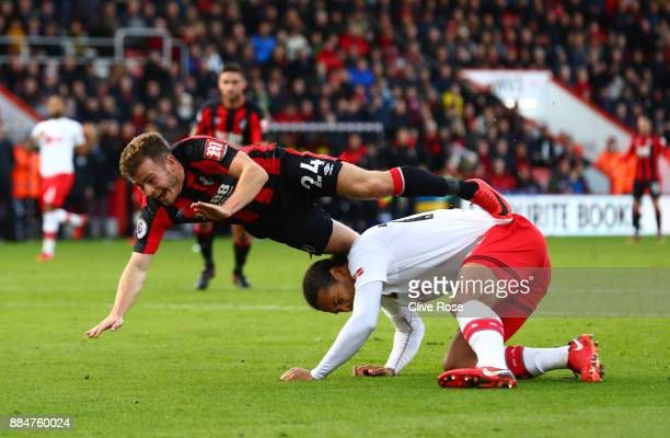 Ryan Fraser of AFC Bournemouth is fouled by Virgil van Dijk of Southampton during the Premier League match between AFC Bournemouth and Southampton at...