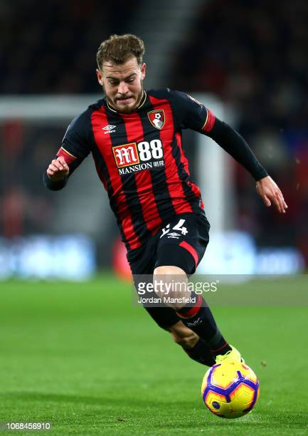 Ryan Fraser of AFC Bournemouth runs with the ball during the Premier League match between AFC Bournemouth and Huddersfield Town at Vitality Stadium...