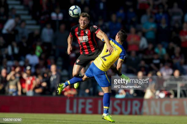 Ryan Fraser of Bournemouth and Cedric Soares of Southamptonduring the Premier League match between AFC Bournemouth and Southampton FC at Vitality...